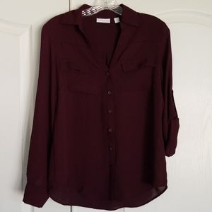 New York and company long sleeve blouse